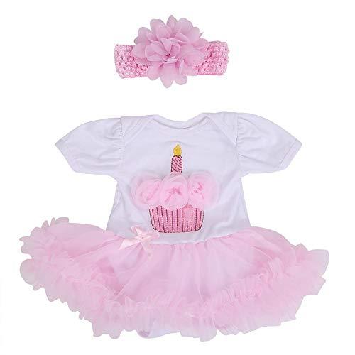 Niñas Bebés Muñeca Juguetes Vestido Niños Simulación Muñeca Encantadora Rosa Romper Ropa Decoración Accesorios Para 20-22 Pulgadas Muñecas