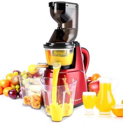 Juicer Kaltgepresste Saftpresse Mit Langsamer Geschwindigkeit, Milchshake-Maschine, Frucht- Und Gemüsesaftpresse Mit Hoher Nährwertzufuhr, Automatische Multifunktionale Elektrische Saftpresse