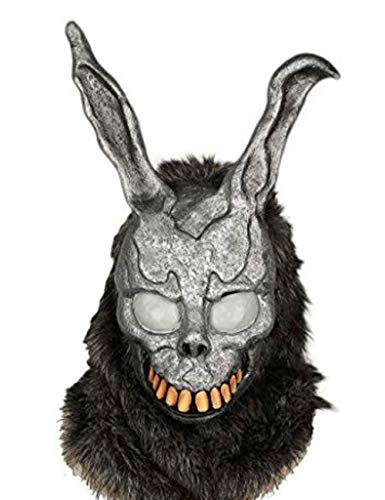 Donnie Darko Bunny Mask Deluxe Frank Helmet with Fur Cosplay Accessory … Grey
