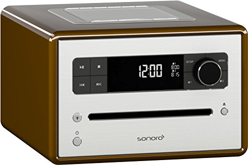 Sonoro SonoroCD 2 CD FM DAB+ Musiksystem mit Bluetooth Havanna