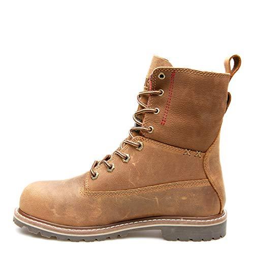 Kodiak Women's 8-Inch Bralorne Soft Toe ESR Waterproof Industrial Boot, Medium Brown, 11