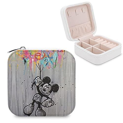 Caja de almacenamiento de joyas con compartimento para joyas, para gestión del hogar, viajes, pendientes, collar y collar de moda