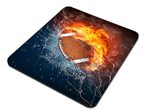 Amcove Mouse Pad Football Ball in Fire and Water Mousepad Rubber Gaming Mat 9.5 X 7.9 Inch (240mmX200mmX3mm) Photo #3