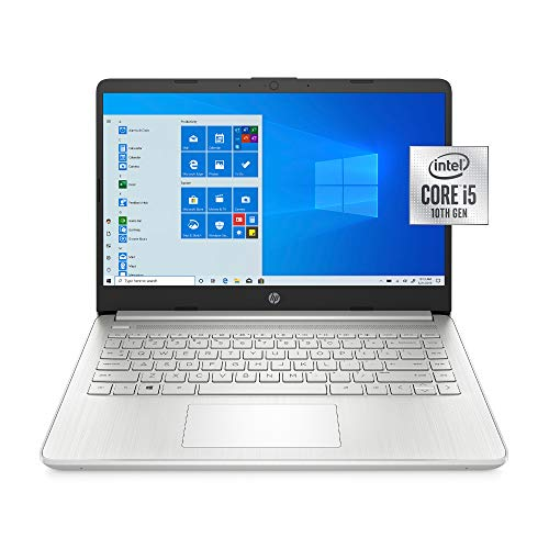 "2021 HP 14"" HD WLED Laptop PC, Intel Core i5-1035G1 Processor, 8GB RAM, 256GB SSD, Wi-Fi 5, HDMI, Webcam, Bluetooth 5, Windows 10, Natural Silver, W/ IFT Accessories"