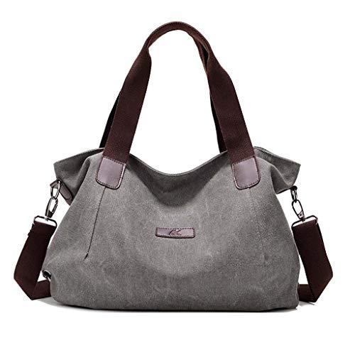 LIHAEI Schultertasche Damen Canvas Tasche Leinen UmhäNgetasche Frauen Crossbody Tasche Handtasche Shopper Strandtaschen