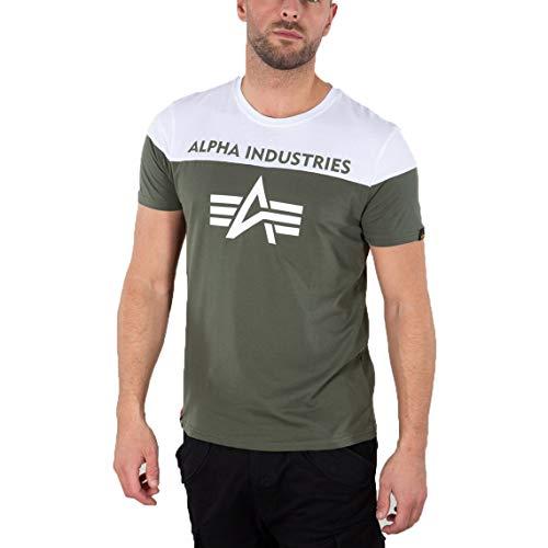 ALPHA INDUSTRIES Herren T-Shirt CB (XXL, Dark Olive)