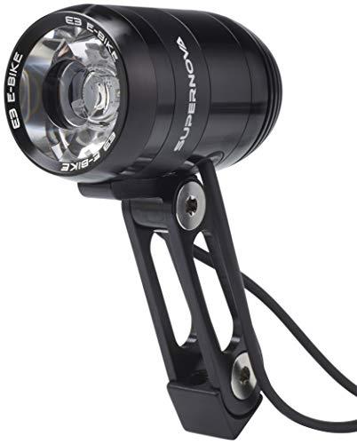 SUPER NOVA Unisex– Erwachsene V1260 Fahrradlampe, schwarz, 235 Lumen