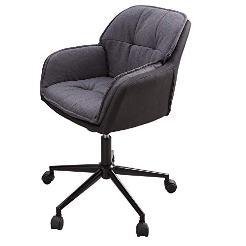 riess-ambiente.de Höhenverstellbarer Bürostuhl MR. Lounger anthrazit grau mit Armlehne Stuhl Bürosessel Sessel Drehstuhl Drehsessel