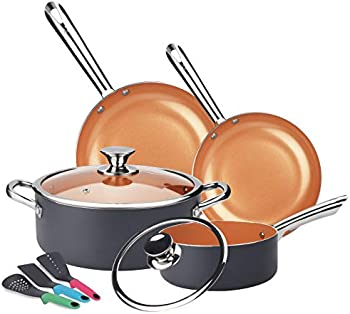 Kutime 9-Pieces Multifunctional Non-stick Cookware Set