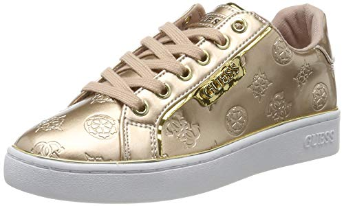 Guess BANQ/Active Lady/Leather Like, Sneaker Donna, Beige (Light Natural Beige), 36 EU