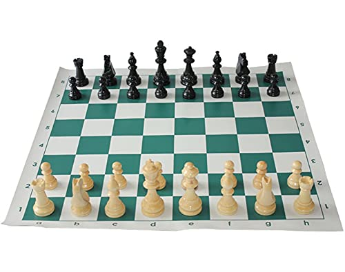 JQDMBH Ajedrez,Internacional de Ajedrez 4 Piezas de ajedrez de Reina 34pcs con Juego de ajedrez de ajedrez Juegos de ajedrez de 97 mm Conjunto de ajedrez Medieval con 51 cm Tabla de ajedrez.