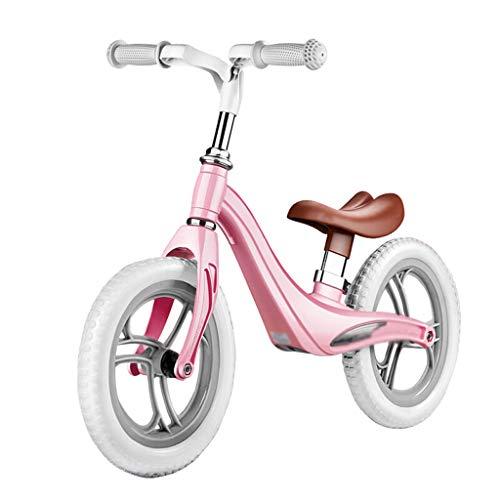 Haodan electronics Laufräder Ausgeglichener Fahrradschieber der Kinder kein Fuß-Fahrrad 2-3-6 Magnesiumlegierungs-Roller scherzt Baby-Wanderer (Color : Pink)