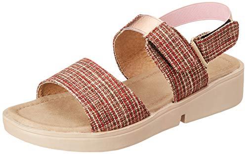 Flavia Women's Red Fashion Sandals-7 UK (39 EU) (8 US) (FL123/RED)