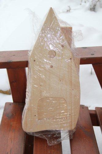 Dekorativer Nistkasten(NB1)-mit Vogelfutterhaus zum selbst bauen-Bausatz-Vogelhaus-Vogelhäuschen-Vogelhaus Garten Deko - 5