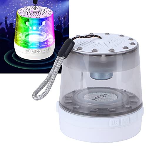 Altavoz Bluetooth, ritmo musical de 360 ° en todos los sentidos Altavoces de subwoofer independientes de gran tamaño Altavoz Bluetooth portátil y duradero Lámpara para viajar en casa
