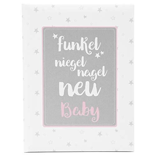 Goldbuch baby-fotoalbum/babydagboek. Babydagboek. 21x28 cm wit/roze