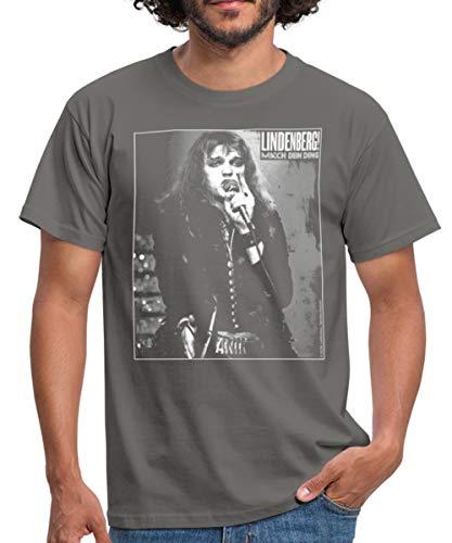Lindenberg! Mach Dein Ding! Porträt Bühne Männer T-Shirt, M, Graphite