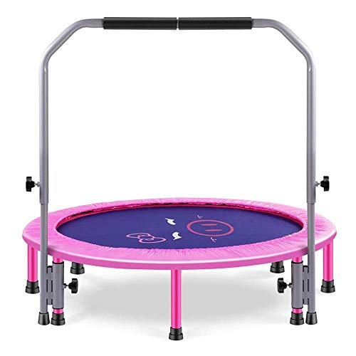 LNNZPL Trampoline Mini Trampoline Set, 48' Foldable Fitness Exercise Bouncer Sports pink trampoline,trampoline net Safe and durable products