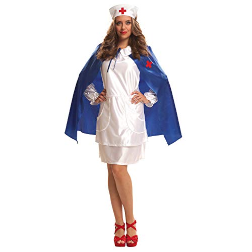 My Other Me - Disfraz Enfermera con capa azul adulto, talla XL (Viving Costumes MOM02632)