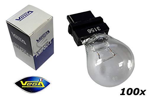 VEGA 100 Ampoules Maxi P27W 3156 halogène 12V
