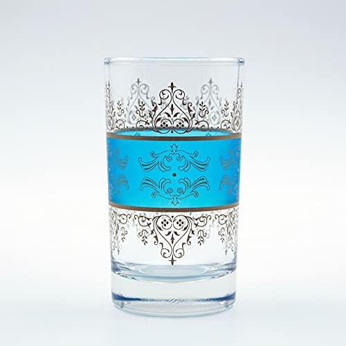-Juego de 6vasos de té Scheherezade azul