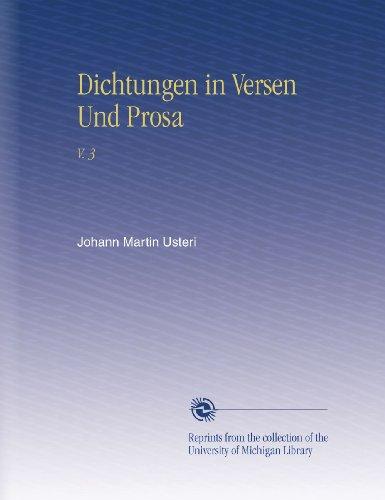 Dichtungen in Versen Und Prosa: V. 3