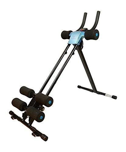 Styletics Bauchtrainer, Bauchmuskeltrainer klappbar für Zuhause, Trainingscomputer, Verschiedene Schwierigkeitsgrade, gezieltes Bauchmuskeltraining, Nutzergewicht bis 110kg