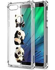 Suhctup Compatible con Xiaomi Redmi 8/Redmi 8A Funda para Silicona Transparente con Dibujos Panda Diseño Patrón Cárcasa Ultra-Fina Suave TPU Choque Cojín de Esquina Parachoque Caso-Panda 2