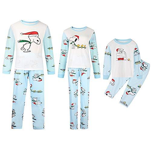 DISCOUNTL Passender Weihnachtspyjama Home Service Eltern-Kind-Anzug Weihnachtspyjama bedruckt Eltern-Kind-Ausrüstung Morgenmäntel für Frauen Gr. X-Large, Vater