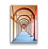 シンプルな建築モダンな装飾絵画レトロアート教会ローマ時代の柱の宮殿のポスターリビングルーム用40×60フレームなし