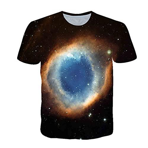 LPFNSF Camiseta 3D para hombre con diseño de planeta en 3D, de manga corta, informal, con estampado creativo (01,XXS)