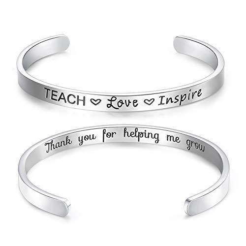 CERSLIMO Inspirational Friendship Gifts for Women Best Friend Bracelet Cuff Bangle Motivational Encouragement Birthday Gifts for Teen Girls
