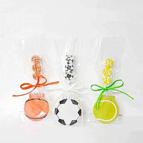 Libreta forma de balón + lápiz con 3 gomas balones, fútbol, tenis o baloncesto.En bolsa de celofán, lazo y tarjetita.Lote de 10 unidades.Regalos fiestas infantiles,cumpleaños niños