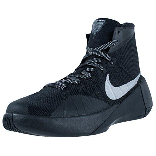 Nike Hyperdunk 2015 (gs) zapatillas de baloncesto para chicos Negro / metálico de plata Tamaño 4 M