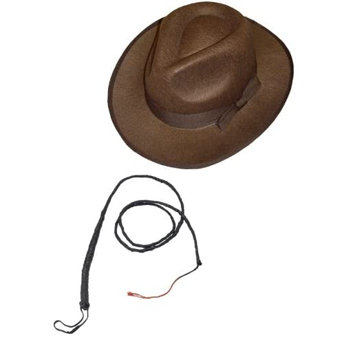 Smiffys Indiana Jones Brown Explorer Hat And Bull Whip.  Amazon.co.uk  Toys    Games 8bd384a26c98