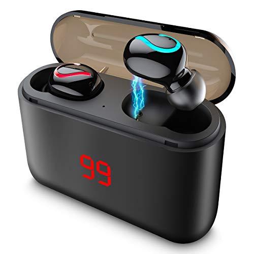 Auriculares Bluetooth 5.0 LCD 1500mAh Estuche Carga,Reducción
