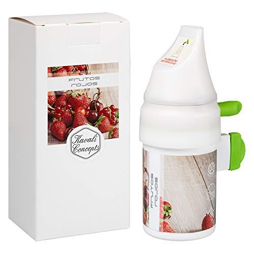 Aroma Fragancia - Frutos Rojos - Liquido Ambientador y Recambio Ambientador Electrico del Difusor de Aromas Automatico Programable de Fragancias para Grandes Superficies de Kavali Concepts