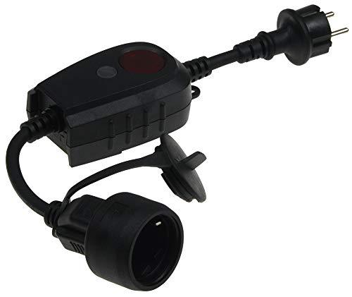 Dämmerungssensor mit Steckdose IP44 Aussen-Steckdose mit Dämmerungsschalter Timer für 1-9 Std. 230V Steuerung für Lampen Leuchten Beleuchtung 2300Watt Schwarz