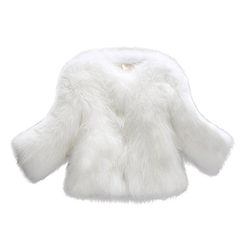 Qmber Faux Pelz Mäntel Damen Pelzmantel Felljacke Jacke warme Plüschmantel lose Teddyfell Parka Elegant Kunstpelz Faux Kunstfell Overcoat Soft Fur Coat Fluffy Winter Outerwear(WH,Medium)