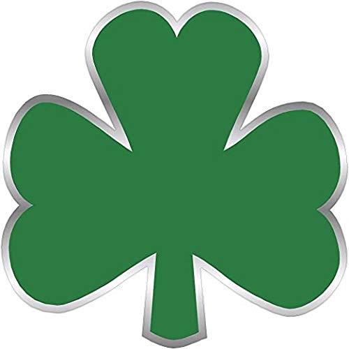 Green Ireland Shamrock Decal 3' Flag Lucky Irish USA Clover Vinyl 3M Reflective Sticker Celtic