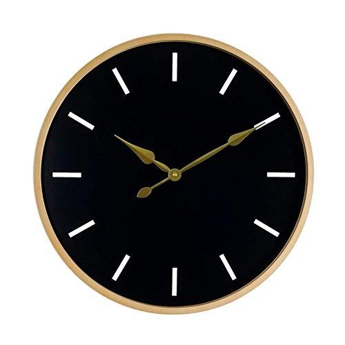 Uhr Uhr Wanduhr Batteriebetrieben Nicht Ticking Wohnzimmer Schlafzimmer Modern Personalized Black Wood Frame Einfache Dekoration 20 Zoll 3D