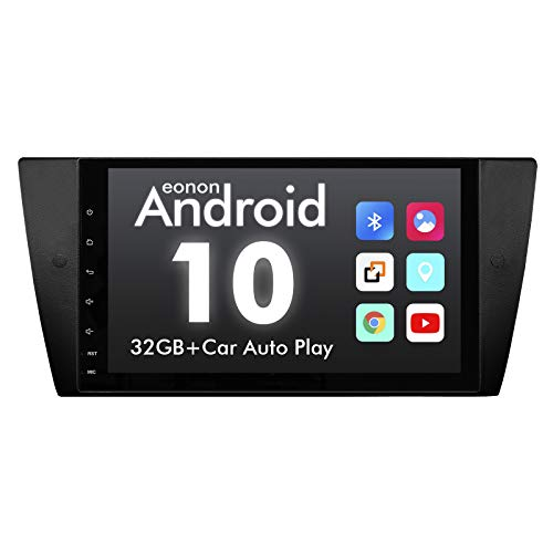 2020 Newest Android Car Stereo Android 10 Double Din Car Stereo, Eonon Car Radio Applicable to 3 Series E90/E91/E92/E93, Support Split Screen, Android Auto Built-in Apple Carplay/DSP-9 Inch-GA9465B
