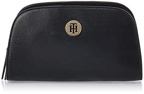 Tommy Hilfiger - Classic Saffiano Washcase, Fundas de carnés Mujer, Negro (Black), 7x11.3x19.5 cm (W x H L)