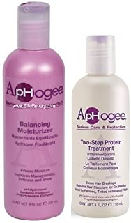 Aphogee Serious Hair Care Double Bundle (Balancing Moisturizer and Twostep Protein Treatment).
