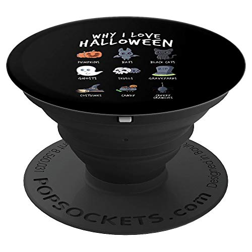 Why I Love Halloween Emoji Costumes Emoticon Collection PopSockets Grip and Stand for Phones and Tablets