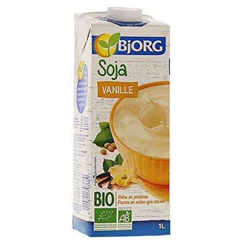 Bjorg Boisson Soja Vanille - Boisson végétale Bio - Riche en protéines - 1 L - Lot de 6