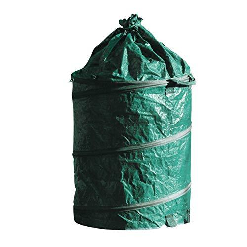 IDEAL 73100160 Gartensack Pop up 160L verschließbar, Grün, 60x58x4 cm