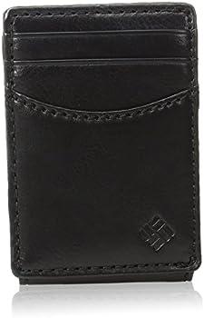 Columbia Men's Leather Front Pocket Wallet Card Holder