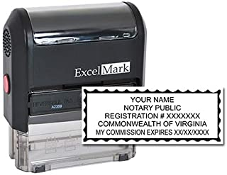 ExcelMark Self Inking Notary Stamp - Virginia