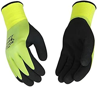 Kinco 1786P Hydroflector Waterproof, Double Thermal Shell & Double-Coated Latex Gloves. Warm, Waterproof, Winter Glove with Incredible Grip and Dexterity. Perfect for Ice & Fly Fishing (Large)